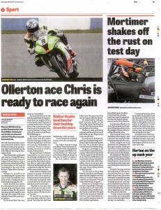 Mansfield CHAD 03-04-2013 Motorsport Preview 2013 BSB Rider Chris Walker