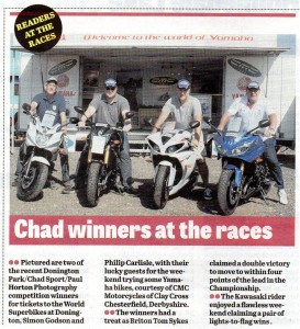 Mansfield / Ashfield CHAD 05-06-2013 World Superbikes Competition Winners
