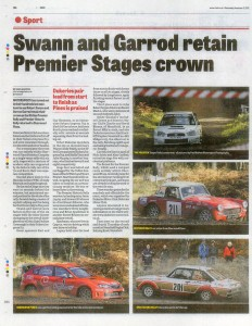 Mansfield / Ashfield CHAD Premier Stages Rally 2012