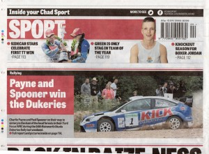 Mansfield / Ashfield CHAD Newspaper 12-06-2013 Rainworth Skoda Dukeries Rally 2013 Back Page
