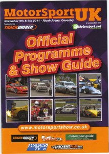 Motorsport UK 2011 Programme Cover and Inside images