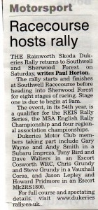 Newark Advertiser 06-06-2013 Dukeries Rally 2013 Preview