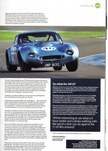 Sprint TVR Magazine May 2013 – Profile of TVR Driver Mike Whitaker