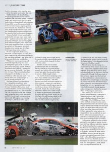 Autosport BTCC 21-09-2017 Slverstone Collard Burns Crash