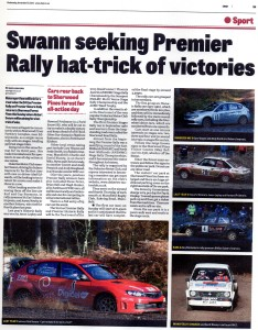 Mansfield / Ashfield CHAD Premier Stages Rally 2013 Preview
