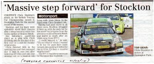 Chester Chronicle 01-05-2014 BTCC Stockton