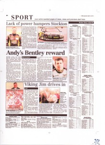 Chester Chronicle 03-04-2014 Dunlop MSA BTCC 2014