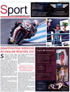 Derbyshire Gaurdian Issue 31 2015 Leon Haslam Celebrates 200 Starts in WSBK