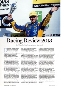 Derbyshire Life Magazine March 2014 Donington Park Review 2013