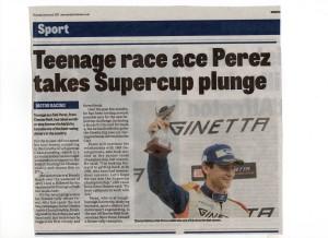 Derbyshire Times 04-02-2017 Seb Perez Ginetta GT4 Super Cup