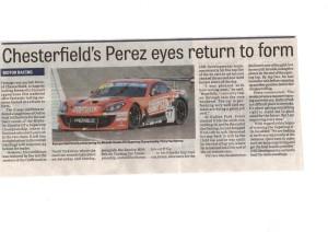 Derbyshire Times 07-06-2017 Seb Perez Seb Perez Ginetta GT4 Super Cup