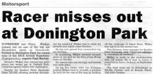Newark Advertiser 12-09-2013 BSB Donington Walker