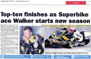 Newark Advertiser 14-04-2015 BSB Chris Walker