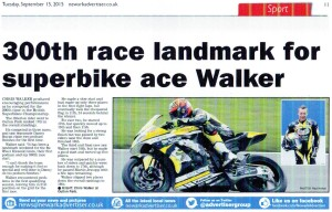 Newark Advertiser 15-09-2015 BSB Walker's 300th