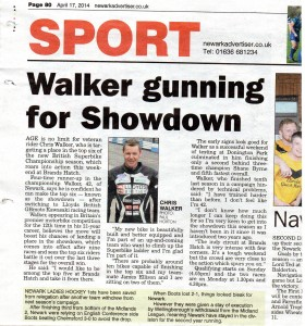 Newark Advertiser 17-04-2014 BSB Walker