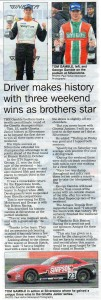 Newark Advertiser 21-09-2017 Gamble Brothers Ginetta Racing