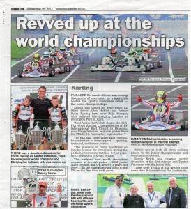 Newark Advertiser 28-09-2017 FIA World Kart Championships