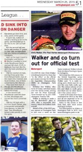 Nottingham Post 25-03-2015 Chris Walker BSB