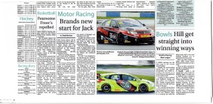 Surrey Advertiser 28-03-2014 Dunlop MSA BTCC 2014